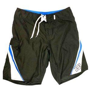 Billabong 10 inch Board Shorts Size 33 Black